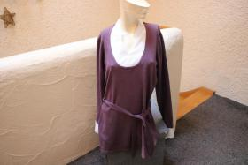 #Longpullover, Gr. 36/38, #lila-weiß, #Cheer, #Two-in-One-Stil