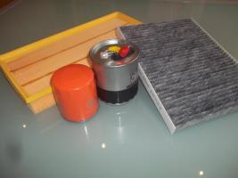 Luftfilter, Innenraumfilter, Kraftstofffilter und Ölfilter