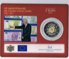 Luxemburg 2 Euro Gedenkmünze '' 10 Jahre Euro - Bargeld 2012 ''  ! !