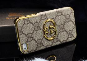 Foto 4 Luxuriös 3D gold Logo mit LV GUCCI Gitter Schutzhülle für IPHONE 4/4S/5/5S