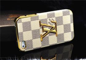 Foto 5 Luxuriös 3D gold Logo mit LV GUCCI Gitter Schutzhülle für IPHONE 4/4S/5/5S