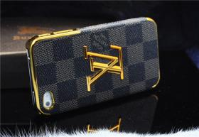 Foto 6 Luxuriös 3D gold Logo mit LV GUCCI Gitter Schutzhülle für IPHONE 4/4S/5/5S