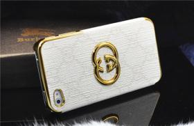 Foto 7 Luxuriös 3D gold Logo mit LV GUCCI Gitter Schutzhülle für IPHONE 4/4S/5/5S
