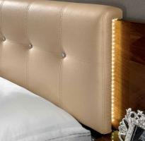Foto 3 Luxus Bett-Gruppe 160x200 Matrix Modern Stilmöbel Italien Nussbaum