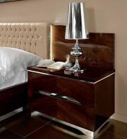 Foto 4 Luxus Bett-Gruppe 160x200 Matrix Modern Stilmöbel Italien Nussbaum