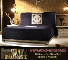 Luxus Möbel Bett Doppelbett 160x200 Schlafzimmer Royale Moonlight Italienische Klassische Stilmöbel