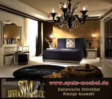 Foto 3 Luxus Möbel Bett Doppelbett 160x200 Schlafzimmer Royale Moonlight Italienische Klassische Stilmöbel