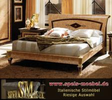 Luxus Möbel Bett Doppelbett Nachtkonsole Schlafzimmer Rossini Italienische Klassische Stilmöbel