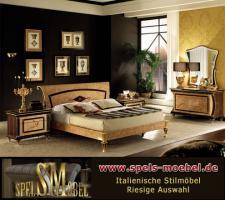 Foto 5 Luxus Möbel Bett Doppelbett Nachtkonsole Schlafzimmer Rossini Italienische Klassische Stilmöbel