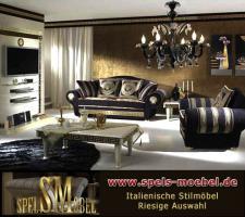 Luxus Möbel Sofa Sessel Polstermöbel Wohnzimmer Royale Moonlight Italienische Klassische Stilmöbel