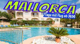MALLORCA Cala Romantica Hotel Sol Romantica 7 Nächte inkl. Flug  ab 363€