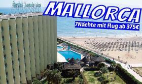 MALLORCA  Paguera Hotel BEVERLY PLAYA 7 Nächte inkl. Flug  ab 375€