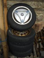 M&S Reifen auf Stahlfelge