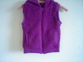 Mädchen Kapuzenweste, Größe: 128 - Girls hooded vest, size: 7-8  www.roteerdbeere.com
