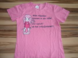 Mädchen T-shirt, Altrosa, Größe:134/140  www.roteerdbeere.com #mädchenkleidung #auktion #rosa