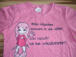 Foto 2 Mädchen T-shirt, Altrosa, Größe:134/140  www.roteerdbeere.com #mädchenkleidung #auktion #rosa