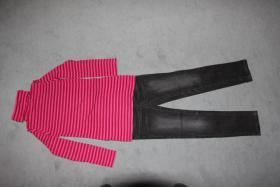 Mädchenset, Shirt, Jeanshose, Gr. 128/134