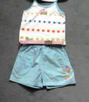 Mädchenset, Top, kurze Hose, Gr. 80, 3 Teile, sehr guter Zustand