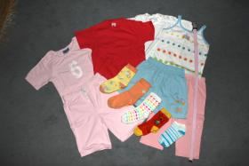 Foto 2 Mädchenset, Top, kurze Hose, Gr. 80, 3 Teile, sehr guter Zustand