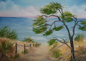 Malen, Urlaub, Hiddensee = Bob Ross Malurlaub bzw. Kretivurlaub auf Hiddensee an der Ostsee
