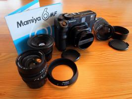 Mamiya 6 incl. aller 3 Objektive sehr selten komplett Top Zustand