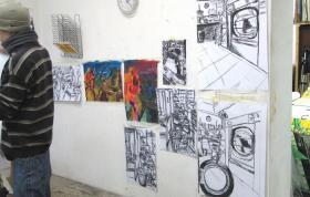 Foto 8 Mappenvorbereitung Malen, Zeichnen...