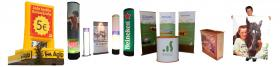 Marketing, Gestaltung Ihrer Messeauftritte, Rollup-u.Banner-Systeme, Digitaldruck, Inflatables