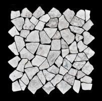 Bruchsteinmosaik Weiß