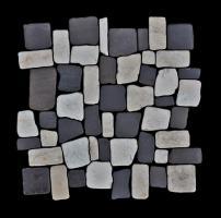 Naturstein Mosaikfliesen Grau Weiß