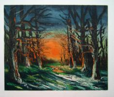 Maurice Vlaminck Sunset in the Forest of Senonches