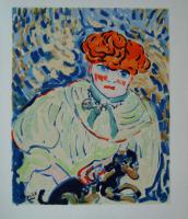 Maurice Vlaminck Woman with Dog