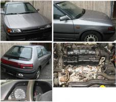 Mazda 323 - Verkleidungen, Sitz, Gurte, Lichter, Schalter, Konsole