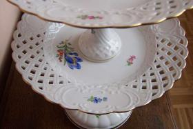 Foto 2 Meissener Porzellan, Etagere, Tafelaufsatz, Meissen, Konfektschale
