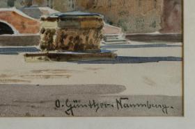 Foto 5 MeisterGemälde OTTO GÜNTHER-NAUMBURG, Reiterstatue in Venedig um 1890!!