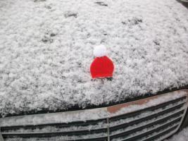 Foto 2 Mercedesstern-Weihnachtsmütze aus Baumwolle