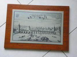 Foto 2 Metallbilder/Stiche (Stahl?) auf Holz