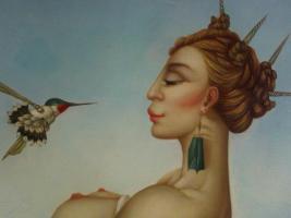 Michael Parkes 50 x 60 cm ein Ölgemälde in Museumsqualität!