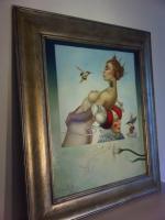 Foto 2 Michael Parkes 50 x 60 cm ein Ölgemälde in Museumsqualität!
