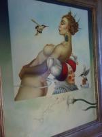 Foto 3 Michael Parkes 50 x 60 cm ein Ölgemälde in Museumsqualität!