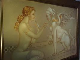 Foto 3 Michael Parkes 60 x 90 cm ein Ölgemälde in Museumsqualität