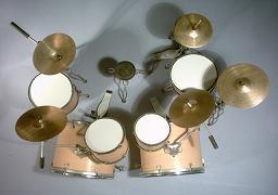 Foto 2 Mini Drum kit – Double Bass (natural-white)