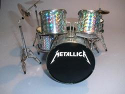 Mini Drum kit – Metallica - Silver Skin