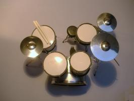 Foto 2 Mini Drum kit – Mini Drum kit Gretsch (silber)