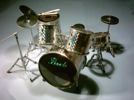Mini Drum kit Pearl - Silver