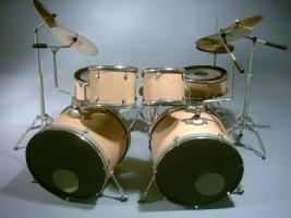 Mini Drum kit - Double Bass (natural-black)