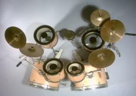 Foto 2 Mini Drum kit - Double Bass (natural-black)