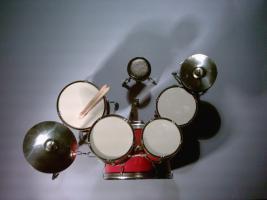 Foto 2 Mini Drum kit  - Stagg (red)