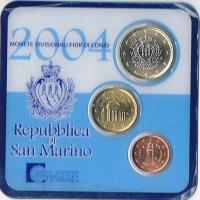 Mini Euro Kursmünzensatz Original San Marino '' 2004'' ! !