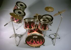 Miniatur Drum kit - DW-Fire