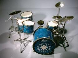 Miniatur Drum kit - Red Hot Chili Peppers
